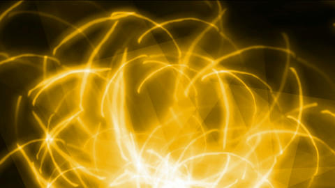 yellow fire and wire rays laser light,tech energy fiber optic field in space Animation