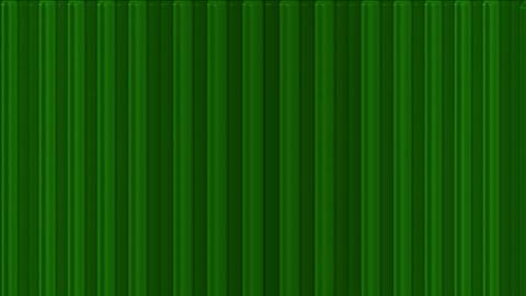 scroll green metal lines panel in space,flowing... Stock Video Footage