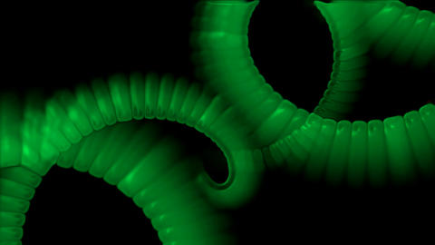 swirl smoke chain stripe ribbon,hairy curve,spiral DNA strand,worm tail body Animation