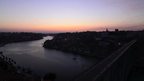 Dom Luis I bridge sunset timelapse Stock Video Footage