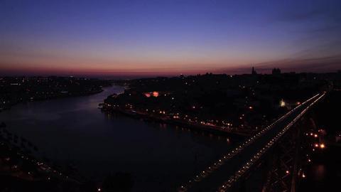 Dom Luis I bridge sunset timelapse Stock Video Footage