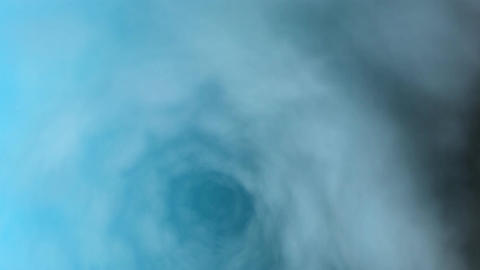 cloud tunnel blue Stock Video Footage
