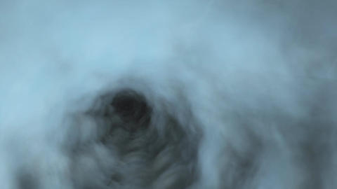 Cloud Tunnel with Lightening Effects Stock Video Footage