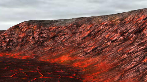 volcanic fire Stock Video Footage