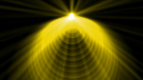 golen cone top launch dazzling rays light,pyramid and god laser,UFO,tech energy transmit signal Animation