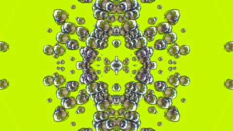 float quicksilver liquuid shaped flower fancy,mercury... Stock Video Footage