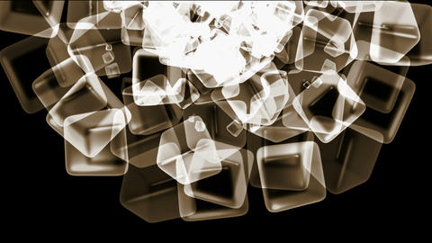 brown ice block,crystal jewelry necklace,flying glass... Stock Video Footage