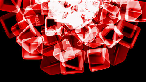 red ice block,crystal jewelry necklace,flying glass boxes... Stock Video Footage