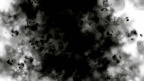 black smoke and steam in space,ghost ink Stock Video Footage