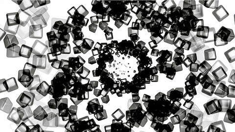 black ice block tunnel hole,crystal jewelry... Stock Video Footage