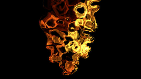 splash mercury liquid and fire,crystal bubble underwater Animation