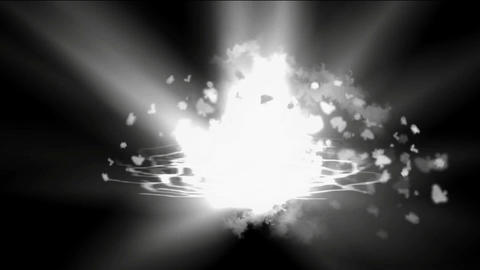 goldmine Explosion and dazzling white rays laser... Stock Video Footage
