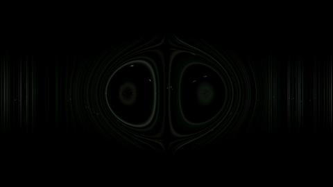 yin yang zen on dazzling lines rays light,audio pulse rhythm Stock Video Footage