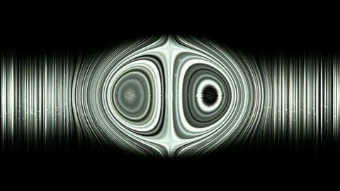 yin yang zen on dazzling lines rays light,audio pulse rhythm Animation