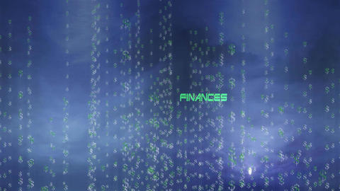 Finances with Money Signs Stock Video Footage