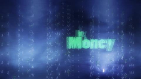 Flashing Money Title with Dollar Signs in Background Animation
