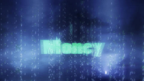 Flashing Money Title with Dollar Signs in Background Stock Video Footage