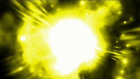 Nebula and supernova explosion in space background Animation
