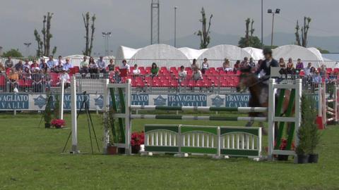 horse race jump 33 Stock Video Footage