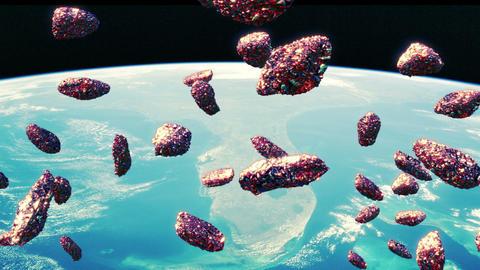 Meteors flyby Stock Video Footage