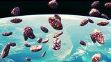 Meteors Flyby stock footage