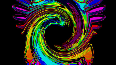 swirl color crystal streak and rays laser light shaped... Stock Video Footage