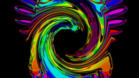 swirl color crystal streak and rays laser light shaped hole,flame mercury ribbon and fiber optic Animation