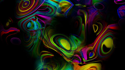 abstract art colorful ripple and stripes background,flow... Stock Video Footage
