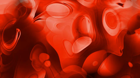 red cells and blood,ripple in flow viscous liquid,abstract red circle curve background Animation