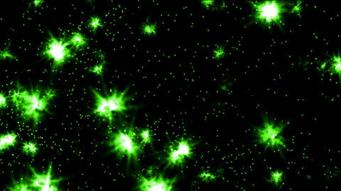 flare green fireworks and particles in night sky,wedding and festival background Animation