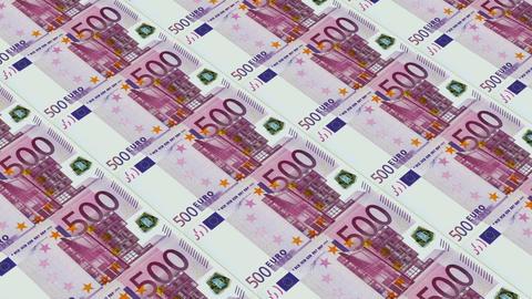 500 euro bills,Printing Money Animation Stock Video Footage