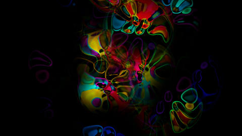 abstract flow color shadow underwater,water drop and... Stock Video Footage