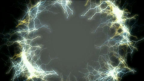 Ring of lightning,wormhole... Stock Video Footage