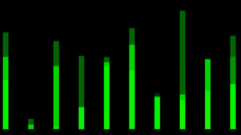green equalizer,music rhythm.Frequency,volume,chromatography,spectrum,particle,creativity,creative,v Animation