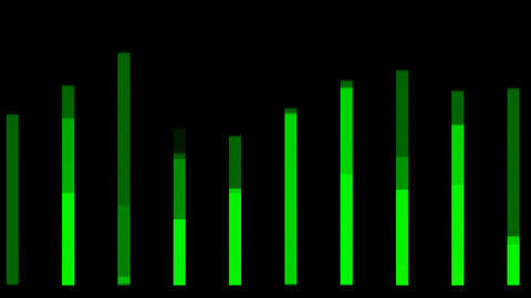 green equalizer,music... Stock Video Footage