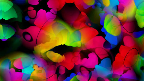 abstract flower petal and butterfly Stock Video Footage