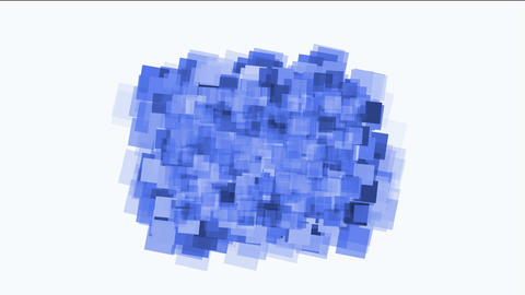 blue watercolor square mosaic papers and debris background Animation