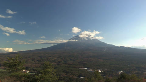 Autumn Landscape in Fuji mountain and Extensive... Stock Video Footage