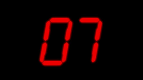 red number,counter,time.rank,mathematics,computing,calculation,mind,Game,Led,neon lights,modern,styl Animation