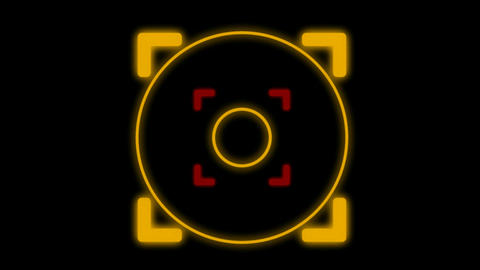 center of a target,computer military interface,radar systerm.pattern,symbol,dream,vision,idea,neon l Animation