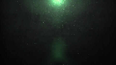 old wall and green sparkle light Stock Video Footage