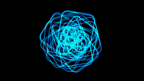 blue coil light,electromagnetic power.Wool,silk,cocoon,pupa,signal,confusion,thoughts,mind,dream,vis Animation