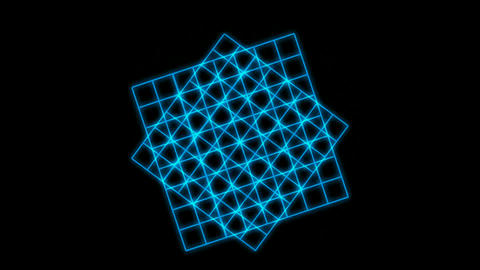 Rotating blue square... Stock Video Footage