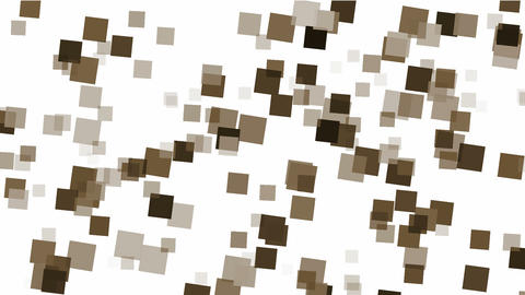 brown square papers & mosaic debris background Stock Video Footage
