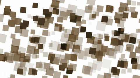 brown square papers & mosaic debris background Animation