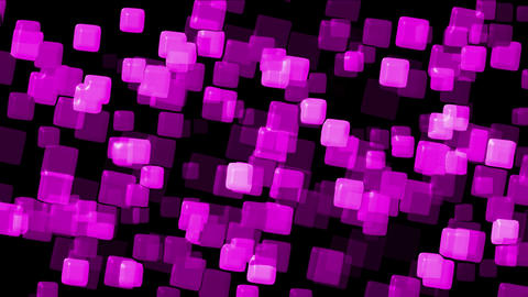 plastic purple square papers & mosaic debris background Animation
