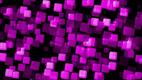 plastic purple square papers & mosaic debris background Stock Video Footage