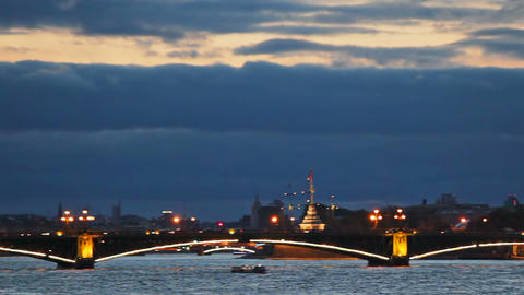 Trinity Bridge, Peter and Paul Fortress Stock Video Footage