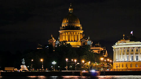 Isaac's Cathedral - a view from the waterfront Footage