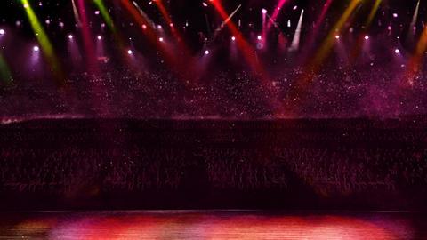 concert camera red flash light, Stock Animation
